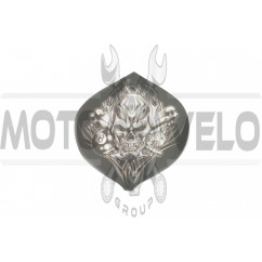 Наклейка декор SKULL (9х9см) (#0056)