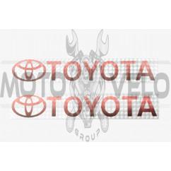 Наклейка логотип TOYOTA (20х4см) (#7035)