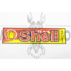 Наклейка логотип SHELL (35х9см) (#0854)