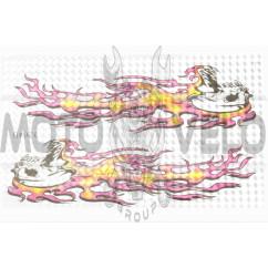 Наклейки (набор) FIRE (23х14см) (#3264B)