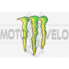 Наклейка логотип MONSTER ENERGY (21х16см) (#7312E)