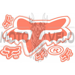 Наклейка логотип FOX (28х20см) (#7062)