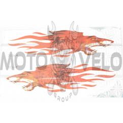 Наклейки (набор) FIRE RAT (32х20см) (#7036)