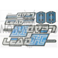 Наклейки (набор) Honda LEAD (27х18см, 6шт) (#7064)