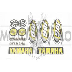 Наклейки (набор) Yamaha JOG (26х18см, 11шт, желтая) (#7071B)