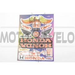 Наклейки (набор) Honda (26х18см, 12шт) (#5538)