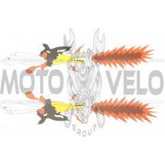 Наклейка декор CRAZY WOLF (34х9см) (#7109)