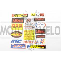 Наклейки (набор) спонсоры, мультибренд (25х24см) (#0015)