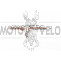 Наклейка шильдик HASEPRO (хром) (#4663)
