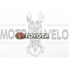 Наклейка шильдик TOYOTA (хром) (#4581)
