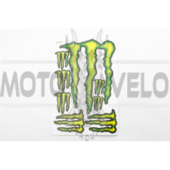 Наклейки (набор) спонсор MONSTER ENERGY (27х18см) (#7051)