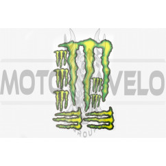 Наклейки (набор) спонсор MONSTER ENERGY (27х18см) (#7050)