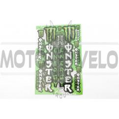 Наклейки (набор) спонсор MONSTER ENERGY (27х18см) (#7052)