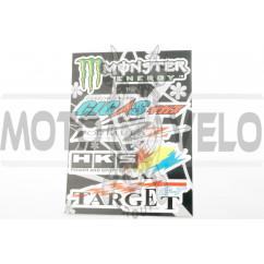 Наклейки (набор) спонсоры, мультибренд (25х21см) (#7120)