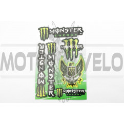 Наклейки (набор) спонсор MONSTER ENERGY (27х18см) (#7049)