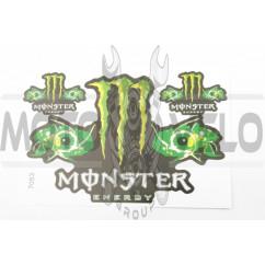 Наклейки (набор) спонсор MONSTER ENERGY (27х18см) (#7053)