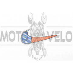 Наклейка логотип NIKE (14х6см) (#3289)