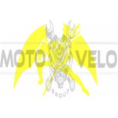 Наклейка декор DIABLO (16х16см, желтая) (#1330)