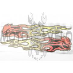 Наклейки (набор) FLAME (40х17см) (#7102A)