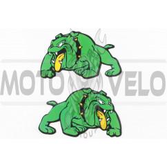Наклейки (набор) DOG (15х7см, зеленые) (#3401A)