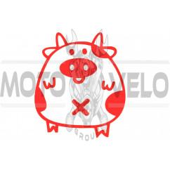 Наклейка декор PIG (красная) (#HQ5)