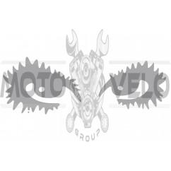 Наклейка декор EYES (18х6см, серая) (#HQ5)