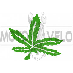 Наклейка декор GREEN (25х23см, зеленая) (#HQ426)