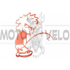 Наклейка декор BAD BOY (23х21см, красная) (#HQ159A)