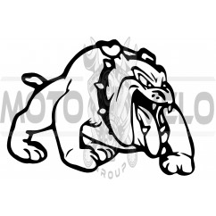 Наклейка декор DOG (12x9cм, черная, правая) (#HQ007BR)