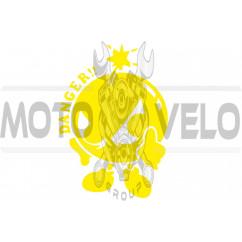 Наклейка декор DANGER (16х12см, желтая) (#0739)