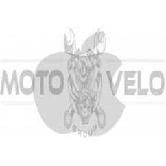 Наклейка логотип APPLE (14х12, белая) (#0467)