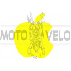 Наклейка логотип APPLE (14х12, желтая) (#0467)