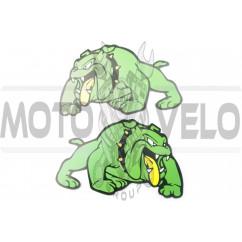Наклейки (набор) DOG (24х15см, зеленые) (#3401)
