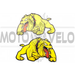 Наклейки (набор) DOG (24х15см, желтые) (#3401)