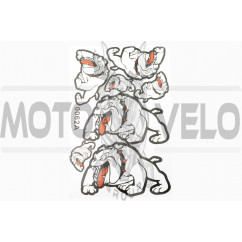 Наклейки (набор) DOG (28х19см, белые) (#0062C)