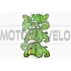 Наклейки (набор) DOG (28х19см, зеленые) (#0062C)