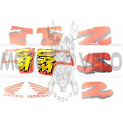 Наклейки (набор) Honda CRM (35х23см, красные) (#2424)
