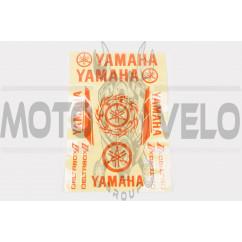 Наклейки (набор) Yamaha (34х23см, 13шт, красные)