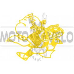 Наклейка декор YAKUZA (13x12см, оранжевая) (#0728)