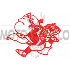 Наклейка декор YAKUZA (13x12см, красная) (#0728)