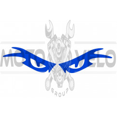 Наклейка декор EYES (23x6см, синяя)