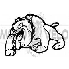 Наклейка декор DOG (12x9см, черная, левая) (#HQ007BL)