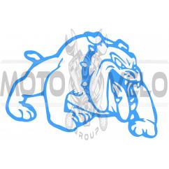 Наклейка декор DOG (13x10cм, синяя, правая) (#HQ007BR)