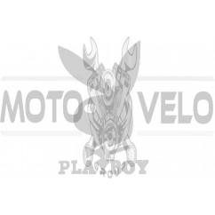"""Наклейка логотип """"PLAYBOY"""" (11x8см, белая) (#647)"""
