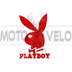 Наклейка логотип PLAYBOY (11x8см, красная) (#647)