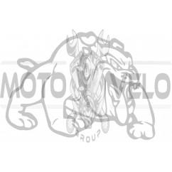 Наклейка декор DOG (13x10cм, белая, правая) (#HQ007WR)