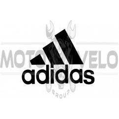 Наклейка логотип ADIDAS (14x11см, черная)