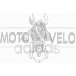 Наклейка логотип ADIDAS (14x11см, белая)