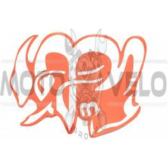 Наклейка декор ARABIC (14х11см, красная) (#5542)