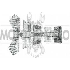Наклейка на бак (20x16см, стразы черные)